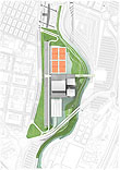 Plano de la Caja Mágica. © Dominique Perrault Architecture